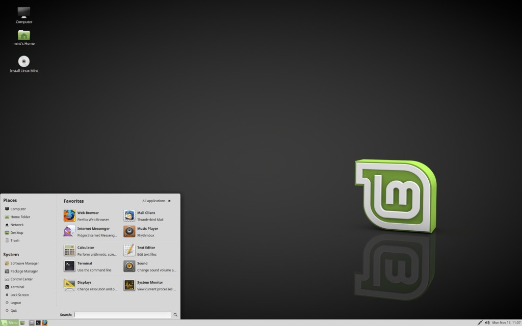 Preview of Linux Mint 18.3 MATE edition