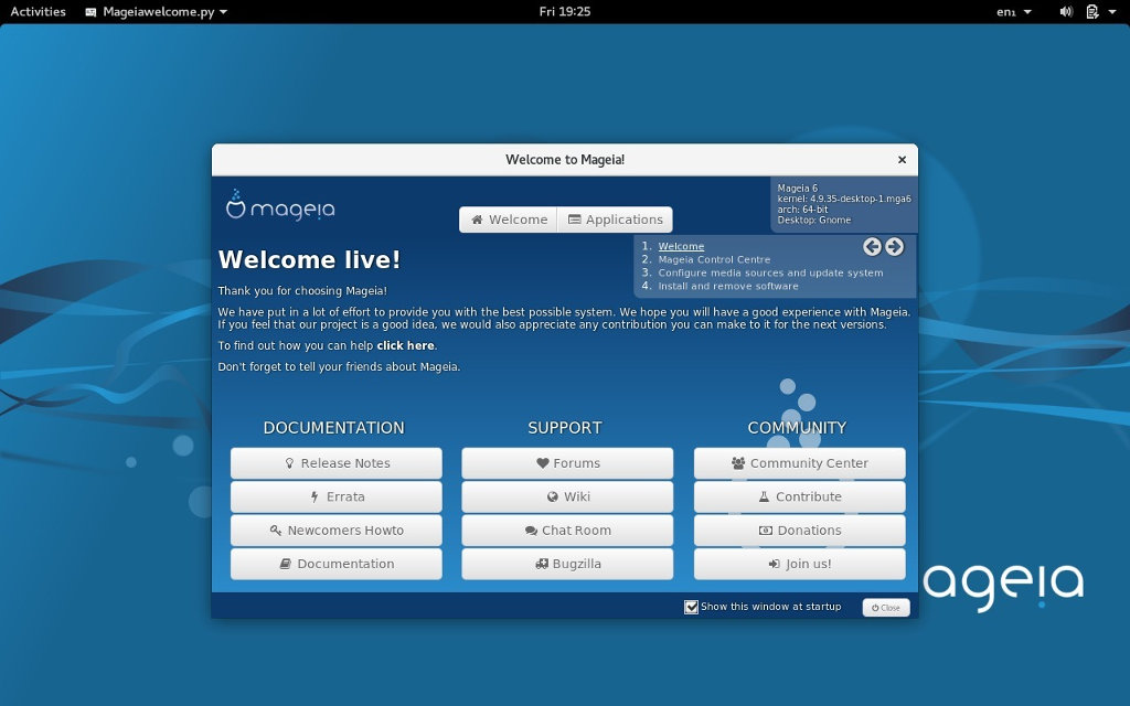 Mageia 6 GNOME preview