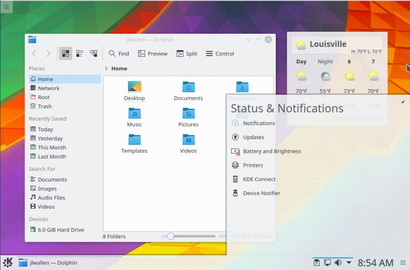 A Preview of KDE neon Desktop