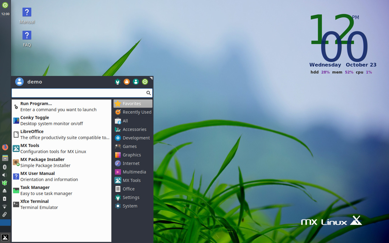 MX Linux preview