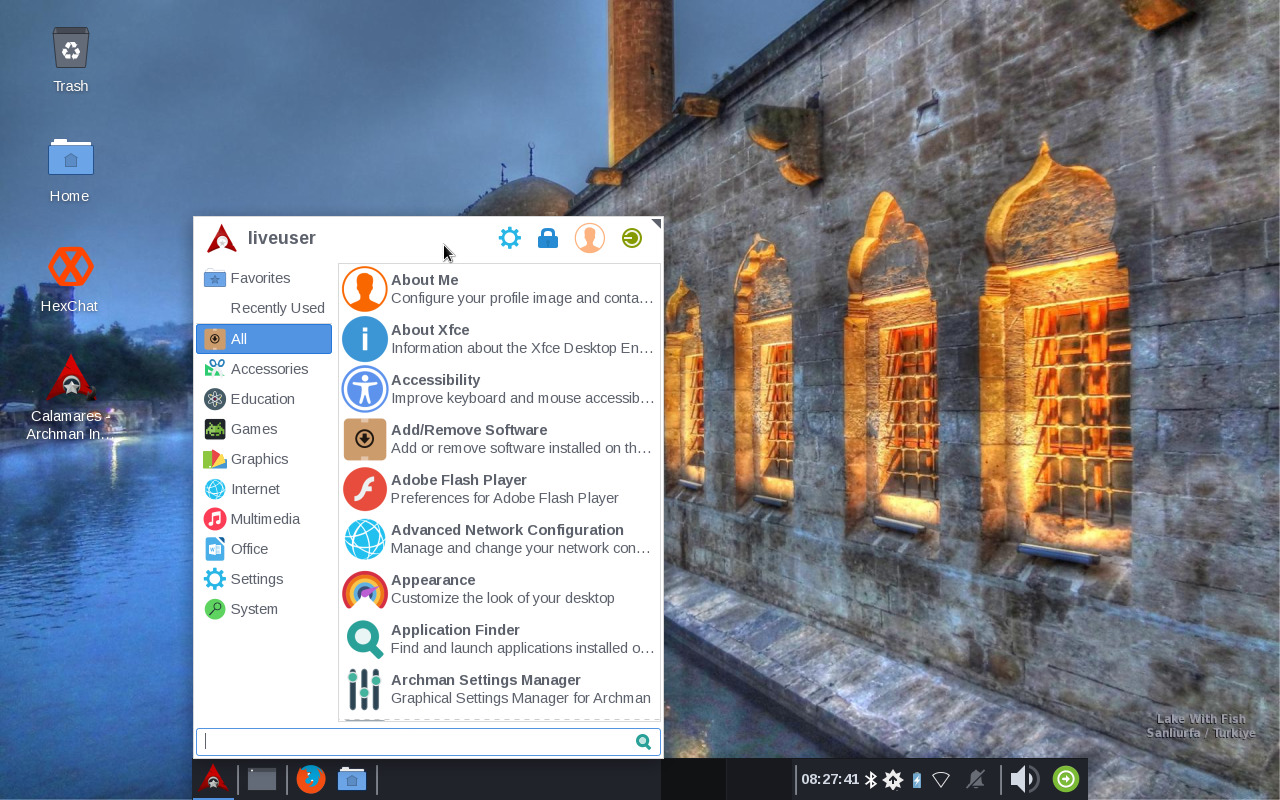 Archman 2019.09 Xfce Edition Preview